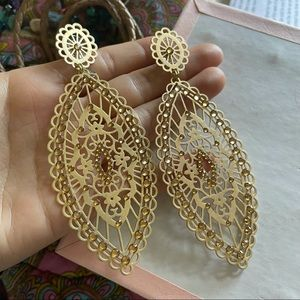 Angelique de Paris Golden Filigree Earrings